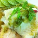 Steamed Tubtim fish with spicy lemon sauce