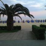 uscita dall'hotel direttamente sulla spiaggia