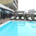 Pool has plenty of sun beds