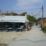 The taverna from the little pier.