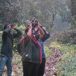 with birding guide Sushil