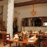 Our beautiful traditionally decorated restaurant