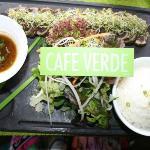 Mi-Cuit de thon aux herbes, salade verde