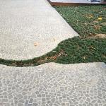 elephant motif incorporated into walkway