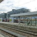 From Moosach S-Bahn Station we see the hotel