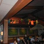 Beautifully decorated Bahama Breeze restaurant