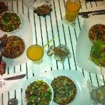 3 personal quiche with friends!