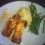 Twin Lobster Tails - not large but very tasteful