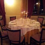 Uno de i tavoli pronti