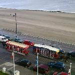 View of horse trams from room 407