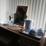 Kettle and tea provided