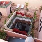 Terrazzo e cortile giardino