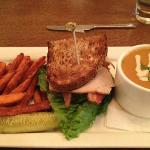 Butternut Squash Soup, Turkey Sandwich & Sweet Potato Fries