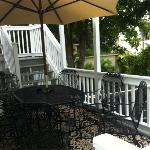 Back deck (Stairs lead to deck off of the upper bedrooms)