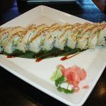 Crunchy sushi with shrimp