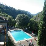 La vue et la piscine
