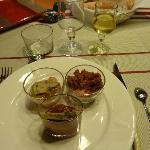 Verrines locales (au foie gras)