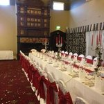 The stunning reception room