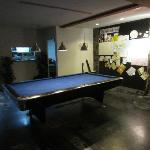 pool table and the wall of fame