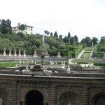 giardino di boboli visto dall'interno del palazzo.