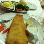 hoofdschotel. flets gekookte groente en weinig gekruide vis