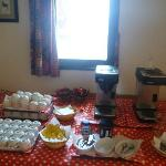 Getting ready for the Tea & Cakes time