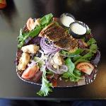 Coffee charred chicken salad w/ ranch dressing