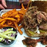 Pulled pork w/ sweet potato fries