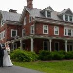 A beautiful setting for a front lawn ceremony.