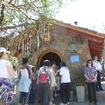 going into The Chapel. See the rosary beads hanging everywhere specially from the trees