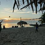 Locals playing volleyball Mon, Wed, Fri