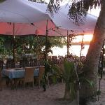 beach transformed for the Melanesian feast night