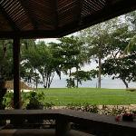 View from the lanai-nothing like listening to the waves and the howler monkeys with a cup of cof
