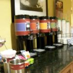 coffee and tea area
