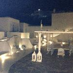 The courtyard at night