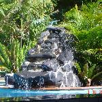 waterfall at pool