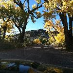 Autumn entry to Ojo Caliente resort.