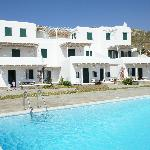 traditional Mykonos style architecture