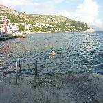 Where locals swim at front of harbour