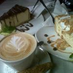 Nougat cheese cake and barone cheese cake