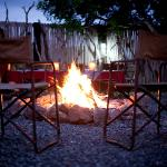 Crackling fire at Safari Lodge Boma