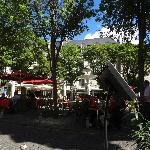 Square in front of hotel