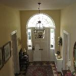 view of the entrance doorway, coming down the stairway