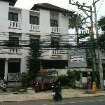 Front of Hotel with Briar of Electric Wires