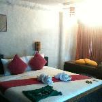 Hotel Room, Street-side. Minimal art & hand-dyed fabircs
