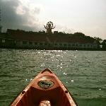Kayaking to the Big Buddha Sculpture