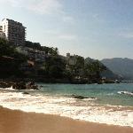 on easy street beach, looking toward hotel