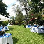 evento en el jardín