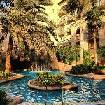 An oasis inside the hotel