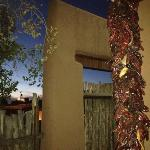 our patio at sunset